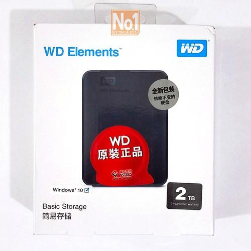 Ổ cứng di động USB 3.0 Western Digital Elements 2TB - bảo hành 2 năm