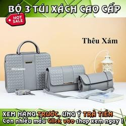 Combo Thêu bộ túi xách set 3 món hcm giá rẻ đẹp