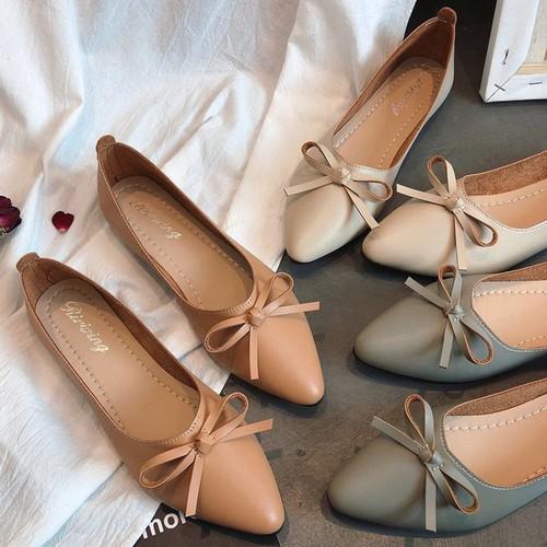 Giày búp bê mỏ nhọn da mềm có nơ xinh xắn-306 - 10679238 , 10688407 , 15_10688407 , 278271 , Giay-bup-be-mo-nhon-da-mem-co-no-xinh-xan-306-15_10688407 , sendo.vn , Giày búp bê mỏ nhọn da mềm có nơ xinh xắn-306