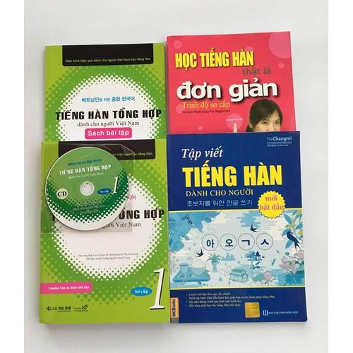 Combo Tiếng Hàn Sơ cấp -Tiếng Hàn TH, Tập viết, Tiếng Hàn đơn giản
