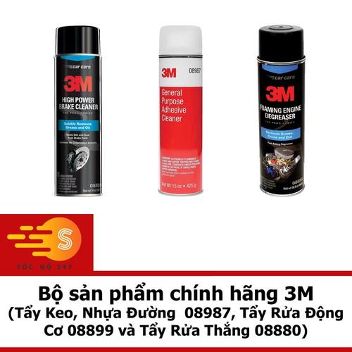 Bộ sản phẩm 3M Tẩy Keo, Nhựa Đường  COMBO 08987,08899 va 08880