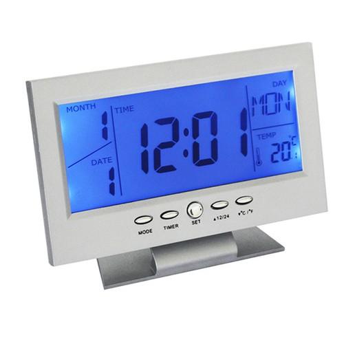 Đồng hồ điện tử đa chức năng thông minh cảm biến âm thanh - Màu bạc - 4371883 , 10674858 , 15_10674858 , 129000 , Dong-ho-dien-tu-da-chuc-nang-thong-minh-cam-bien-am-thanh-Mau-bac-15_10674858 , sendo.vn , Đồng hồ điện tử đa chức năng thông minh cảm biến âm thanh - Màu bạc