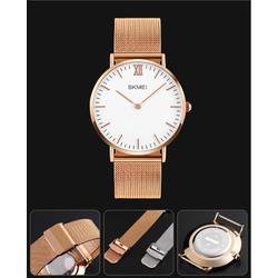 Đồng hồ nữ dây thép lưới không gỉ SKM 1181