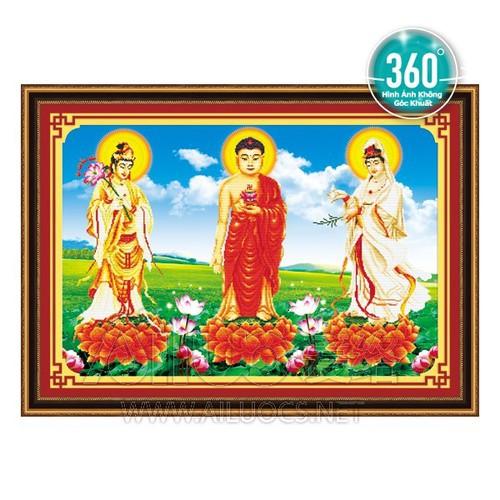 Tranh đính đá Ailuocs Tam Thế Phật kt 108x75cm