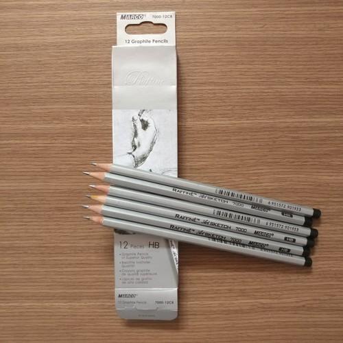 Hộp 12 cây bút chì đen kỹ thuật hb marco 7000-12cb