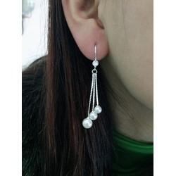 Bông tai nữ bạc dài