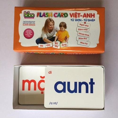 Bộ thẻ học Flash Card cho bé học song ngữ