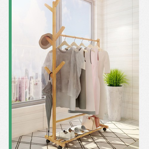 Giá treo quần áo bằng gỗ có bánh xe - 10682509 , 10704209 , 15_10704209 , 780000 , Gia-treo-quan-ao-bang-go-co-banh-xe-15_10704209 , sendo.vn , Giá treo quần áo bằng gỗ có bánh xe