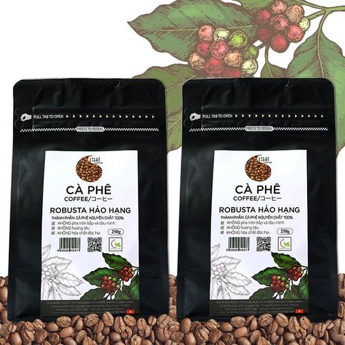 Combo 2 Gói 250g Cà phê hạt nguyên chất Robusta Hảo hạng Light Coffee