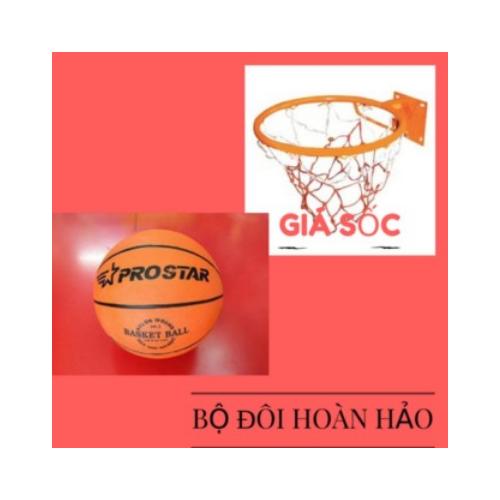 Lưới vành 47cm bóng rổ số 7 kèm bộ đinh vích, kim bơm và lưới đựng bóng