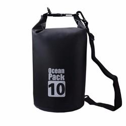 Túi chống nước tuyệt đối 100 10L đựng đồ đi biển, dã ngoại-Black