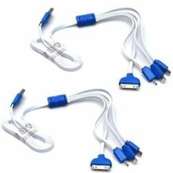 dây cáp sạc đa năng 4 đầu iP 5 6 - NOKI ĐẦU NHỌN - MICRO - IP4S