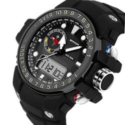 Đồng hồ thể thao dual time dây silicon, Mã số: DH1847
