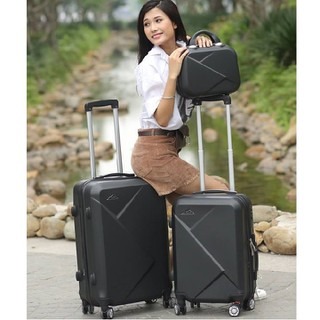Bộ 3 vali kéo nhựa dẻo VAT size 14-20-24 inch - SET3+VAT+ thumbnail