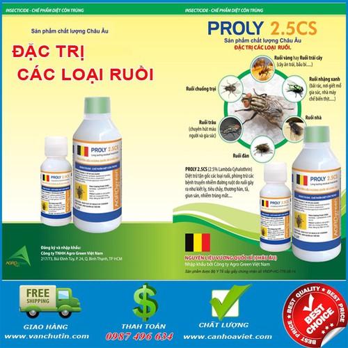 Bộ 2 chai Proly 2.5CS đặc trị ruồi các loại sản phẩm của Bỉ - 10703606 , 10800660 , 15_10800660 , 200000 , Bo-2-chai-Proly-2.5CS-dac-tri-ruoi-cac-loai-san-pham-cua-Bi-15_10800660 , sendo.vn , Bộ 2 chai Proly 2.5CS đặc trị ruồi các loại sản phẩm của Bỉ