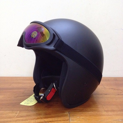 CP[P5001] Mũ bảo hiểm kín đầu +kính phượt loại chống UV400