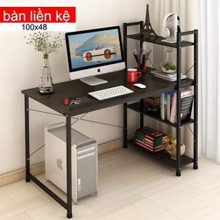 Bàn liền kệ đa năng-bàn làm việc- bàn liền kệ- bàn để máy tính-bàn học đa năng- bàn gỗ cao cấp-bàn gỗ liền kệ-bàn có giá để đồ - Bàn liền kệ re0041 thumbnail