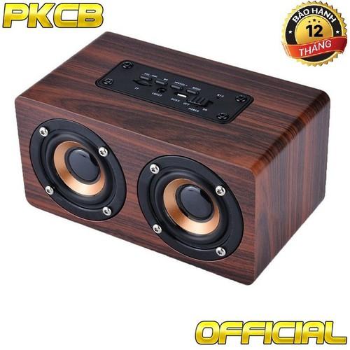 [Siêu sale 1 ngày duy nhất] loa bluetooth gỗ hifi super bass stereo speaker gắn thẻ nhớ pkcb g4 pf96