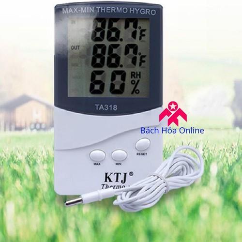 Máy đo độ ẩm, 2 cảm biến nhiệt độ tiện dụng