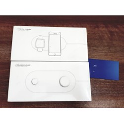 Sạc không dây Mini Air Power 2in1 cho Iphone và Apple Watch