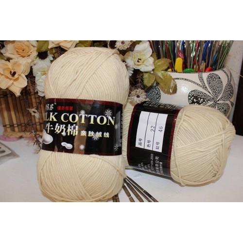m22 - Len Milk cotton loại 1 cuộn 125gr