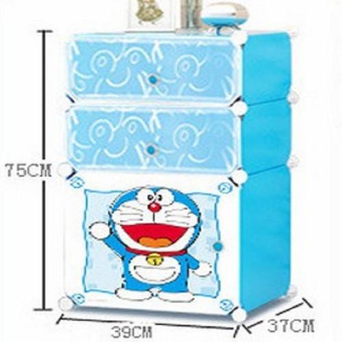 Tủ Nhựa Đầu Giường Doraemon 3 Tầng - Tủ Nhựa Đầu Giường