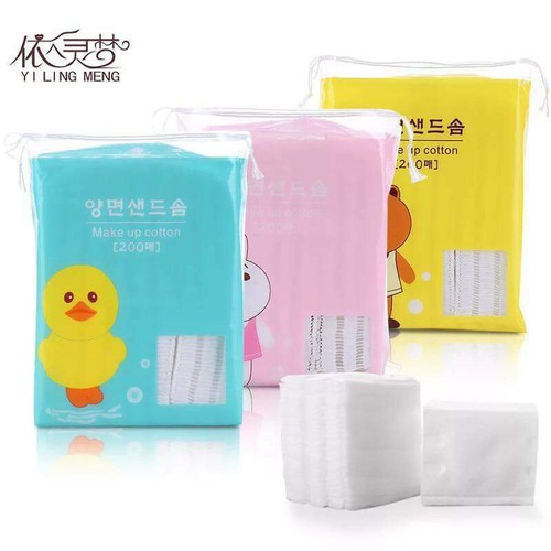 Bông Tẩy Trang Line Friends Sale Với 200 miếng bông 100 cotton