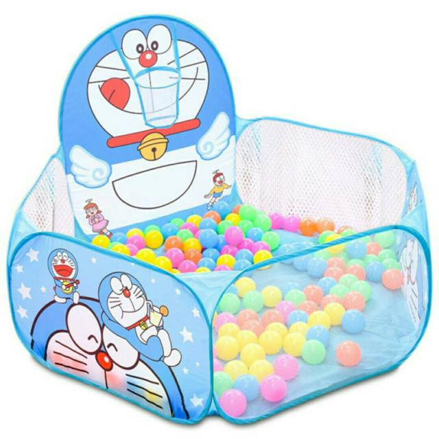 Nhà bóng lều bóng Doremon tặng kèm 100 quả bóng nhựa cho bé 1