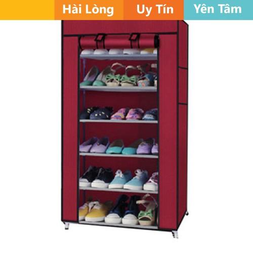Tủ đựng giày dép 7 tầng 6 ngăn tặng 1 hộp đựng giày - 4535239 , 13065501 , 15_13065501 , 110000 , Tu-dung-giay-dep-7-tang-6-ngan-tang-1-hop-dung-giay-15_13065501 , sendo.vn , Tủ đựng giày dép 7 tầng 6 ngăn tặng 1 hộp đựng giày