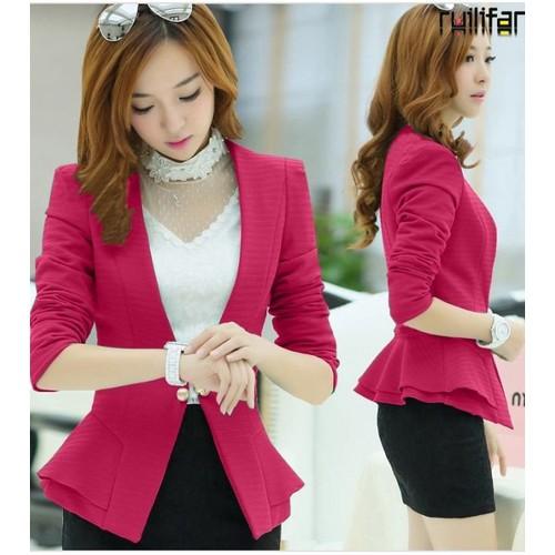 Áo khoát vest hồng