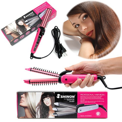 Máy làm tóc Shinon 3in1 uốn lọn, duỗi thẳng,...