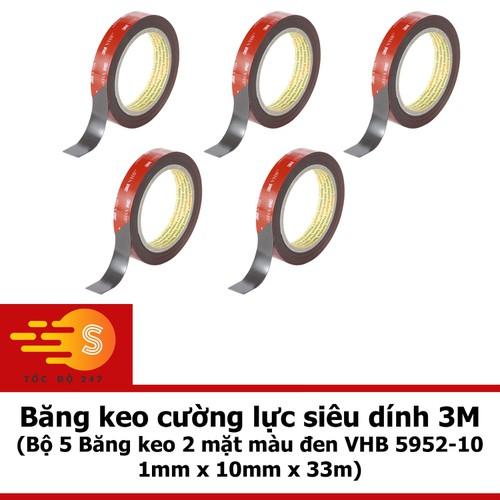 Bộ 5 Băng keo 2 mặt 3M 1mm x 10mm x 33m COMBO5 5952-10 - 5070055 , 10716616 , 15_10716616 , 2255000 , Bo-5-Bang-keo-2-mat-3M-1mm-x-10mm-x-33m-COMBO5-5952-10-15_10716616 , sendo.vn , Bộ 5 Băng keo 2 mặt 3M 1mm x 10mm x 33m COMBO5 5952-10
