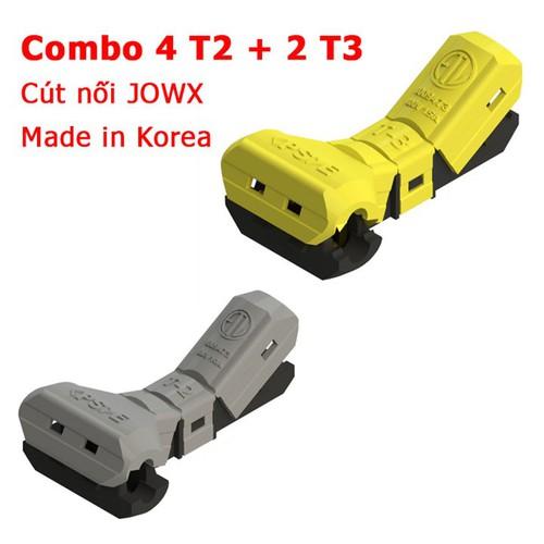 Combo cút nối JOWX hàn quốc 4 T2 và 2 T3