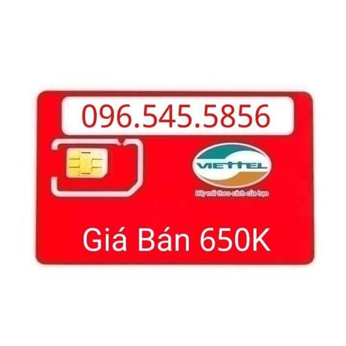 4G Sim phong thủy 096 545 58 56
