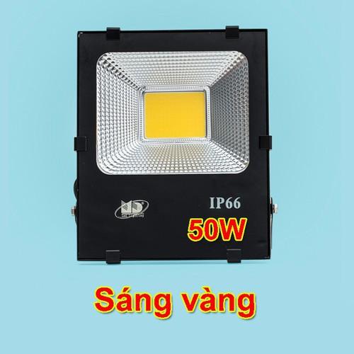 Đèn pha led 50W sáng vàng thương hiệu MD bảo hành 24 tháng