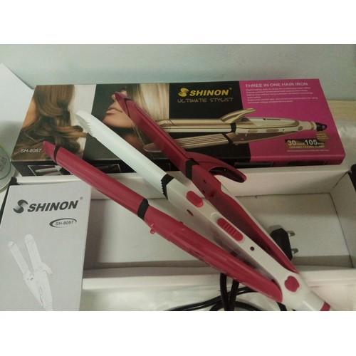 Máy làm tóc Shinon chính hãng 3in1 uốn cong, duỗi thẳng,...