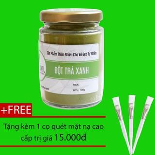 Bột Trà Xanh Bảo Lộc Bảo Nam 100g + Tặng Cọ Quét - bottraxanhllkmnh thumbnail