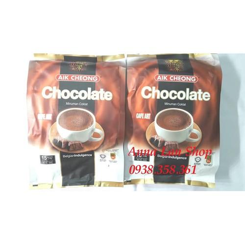 Chocolate hòa tan - cafe art - aik cheong - malaysia (600g)