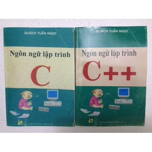 Combo 2 sách Ngôn Ngữ Lập Trình C và C++ Quách Tuấn Ngọc
