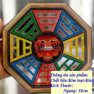 Gương Bát Quái chạm kiếng Phong Thủy Mặt Hổ - 43242AAASDA thumbnail