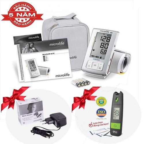 Máy đo huyết áp Microlife BP A6 Basic Cảnh báo đột quỵ Kèm quà tặng