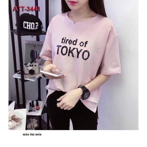 Áo thun nữ tay lỡ phong cách HÀN QUỐC TOKYO form rộng vải dày mịn - 7867555 , 10740772 , 15_10740772 , 75000 , Ao-thun-nu-tay-lo-phong-cach-HAN-QUOC-TOKYO-form-rong-vai-day-min-15_10740772 , sendo.vn , Áo thun nữ tay lỡ phong cách HÀN QUỐC TOKYO form rộng vải dày mịn