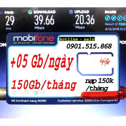 4G Mobifone 150Gb 1 tháng