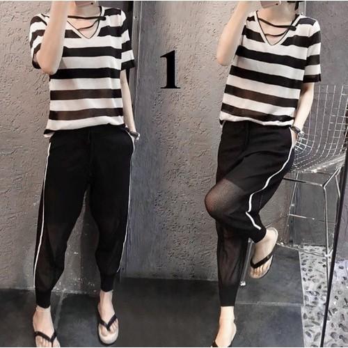 B33119- Set áo và quần kiểu Hàn Quốc - giá 520k