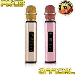 Micro kèm loa Bluetooth Karaoke nhập khẩu PKCB K6 cắm thẻ nhớ PF14