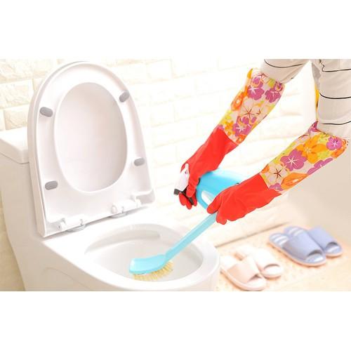 Găng tay cao su lót nỉ,gang tay rửa bát