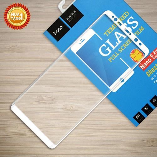 Miếng kính cường lực Galaxy Note 8 Full Hoco trắng