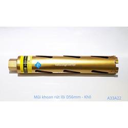 Mũi khoan rút lõi Vàng D56mm - mũi khô