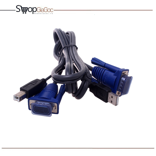 Cáp KVM USB 1.5m - Cáp nối bộ KVM