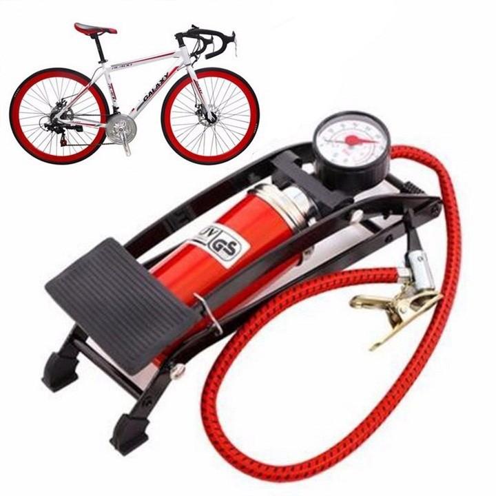 Combo- Bơm đạp chân 1 Piston - xe máy tặng kèm bạt phủ xe máy 4